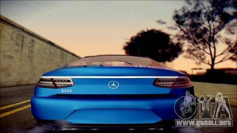 Mercedes-Benz S Coupe Vossen cv5 2014 para la visión correcta GTA San Andreas