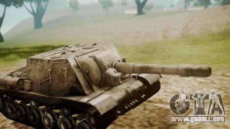 ISU-152 Snow from World of Tanks para la visión correcta GTA San Andreas