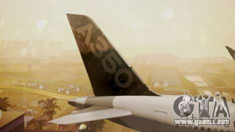 Airbus 350-900XWB Around The World para GTA San Andreas vista posterior izquierda