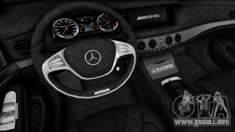 Mercedes-Benz W222 S63 AMG para la visión correcta GTA San Andreas