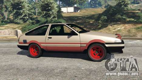 GTA 5 Toyota AE86 Sprinter [Beta] vista lateral izquierda