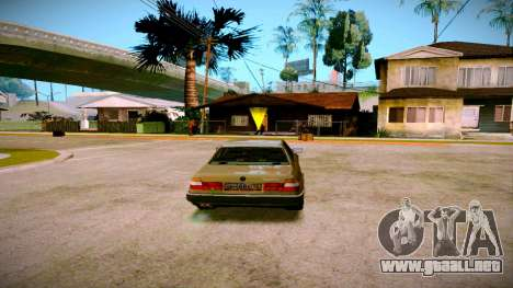BMW 735il E32 1992 para GTA San Andreas left