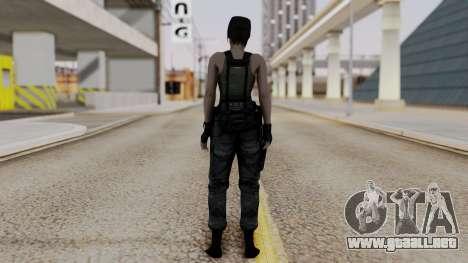 Resident Evil Remake HD - Jill Valentine (Army) para GTA San Andreas tercera pantalla