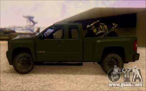 Chevrolet Silverado 2500 Best Edition para GTA San Andreas left