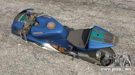 GTA 5 Ducati Desmosedici RR 2012 vista trasera