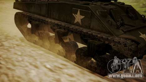 M4A3(76)W Sherman para GTA San Andreas vista posterior izquierda