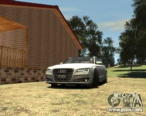 Audi A8L W12 2013 para GTA 4 Vista posterior izquierda