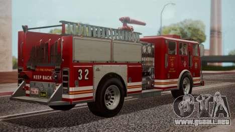 GTA 5 MTL Firetruck IVF para GTA San Andreas left