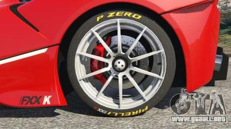 GTA 5 Ferrari FXX-K 2015 vista lateral trasera derecha