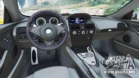 GTA 5 BMW M6 (E63) WideBody v0.1 [StopTech] vista trasera
