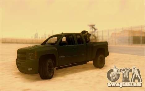 Chevrolet Silverado 2500 Best Edition para visión interna GTA San Andreas