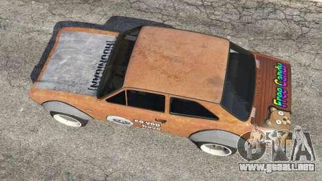 GTA 5 Ford Escort MK1 v1.1 [Hoonigan] vista trasera