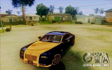 Rolls-Royce Ghost Mansory para GTA San Andreas left