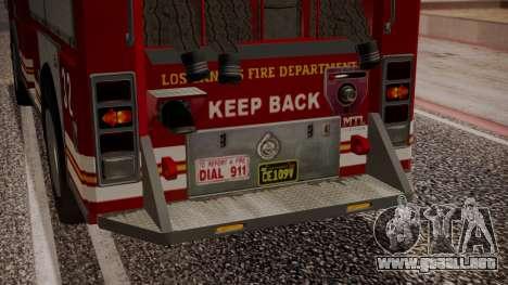 GTA 5 MTL Firetruck IVF para vista inferior GTA San Andreas