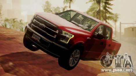 Ford F-150 2015 Stock para GTA San Andreas