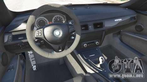 GTA 5 BMW M3 GTS vista lateral trasera derecha