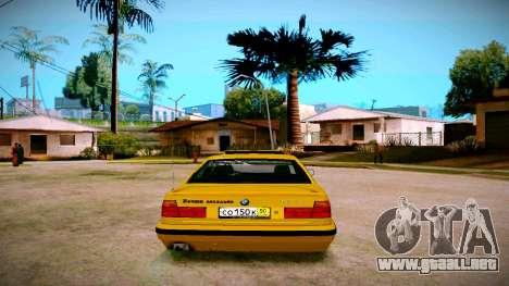 BMW 525tds E34 Russian Taxi para GTA San Andreas vista posterior izquierda