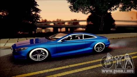Mercedes-Benz S Coupe Vossen cv5 2014 para GTA San Andreas left