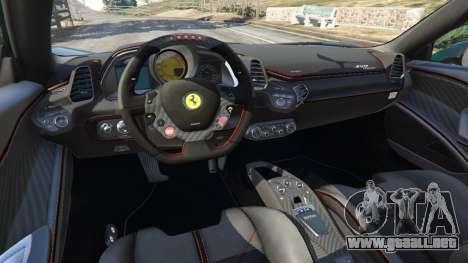 GTA 5 Ferrari 458 Italia 2009 v1.5 vista lateral derecha