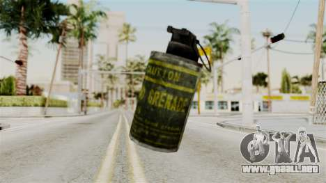 Grenade from RE6 para GTA San Andreas segunda pantalla