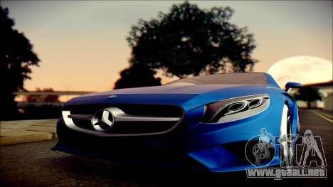 Mercedes-Benz S Coupe Vossen cv5 2014 para GTA San Andreas vista hacia atrás