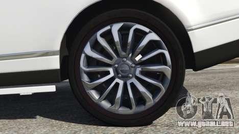 GTA 5 Range Rover Vogue 2013 v1.2 vista trasera
