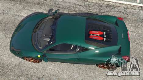 GTA 5 Ferrari 458 Italia 2009 v1.5 vista trasera