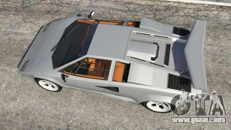 GTA 5 Lamborghini Countach LP500 QV 1988 v1.2 vista trasera