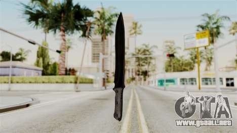 Knife from RE6 para GTA San Andreas segunda pantalla