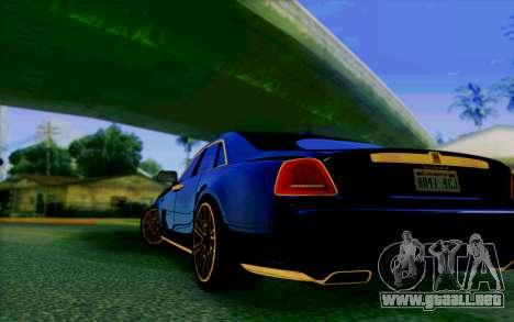 Rolls-Royce Ghost Mansory para la visión correcta GTA San Andreas