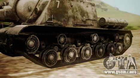 ISU-152 Snow from World of Tanks para GTA San Andreas vista posterior izquierda