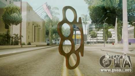 Atmosphere Brass Knuckles v4.3 para GTA San Andreas