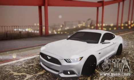 Ford Mustang GT 2015 Stock para vista lateral GTA San Andreas