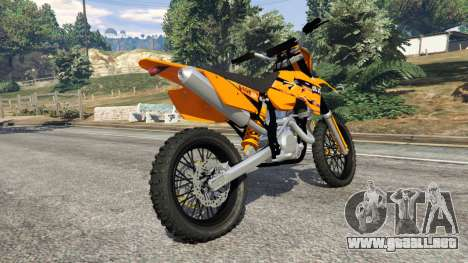 GTA 5 KTM 450SX Racing 2007 vista lateral derecha