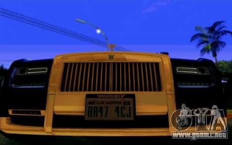 Rolls-Royce Ghost Mansory para GTA San Andreas vista hacia atrás