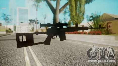 Sniper Rifle by EmiKiller para GTA San Andreas segunda pantalla