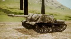 ISU-152 Snow from World of Tanks para GTA San Andreas