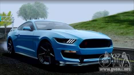 Ford Mustang Shelby GT350R 2016 No Stripe para el motor de GTA San Andreas