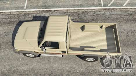 GTA 5 Toyota Land Cruiser LX Pickup 2016 vista trasera