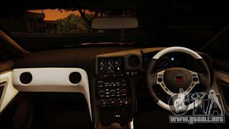 Nissan GT-R Nismo 2015 Itasha Paintjobs para visión interna GTA San Andreas