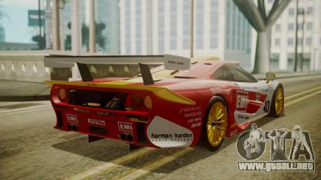 McLaren F1 GTR 1998 Lemans McLaren para GTA San Andreas left