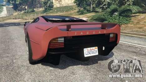 GTA 5 Jaguar XJ220 v1.0 vista lateral izquierda trasera