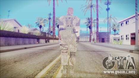 MGSV Phantom Pain Snake Normal Woodland para GTA San Andreas tercera pantalla