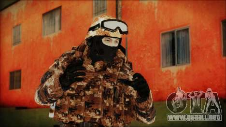 Chinese Army Desert Camo 4 para GTA San Andreas
