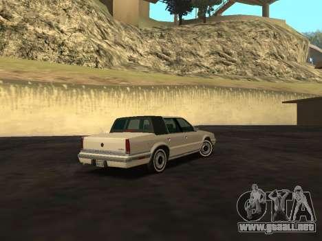 Chrysler New Yorker 1988 para GTA San Andreas vista hacia atrás