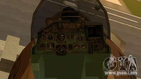 SU-27 Flanker A Philippine Air Force para la visión correcta GTA San Andreas