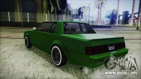 GTA 5 Willard Faction Custom para GTA San Andreas vista posterior izquierda