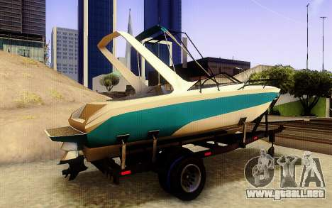 GTA V Boat Trailer para GTA San Andreas vista posterior izquierda