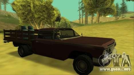 Voodoo El Camino v2 (Truck) para las ruedas de GTA San Andreas