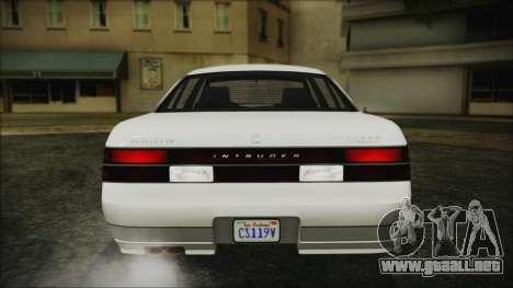 GTA 5 Karin Intruder IVF para GTA San Andreas vista hacia atrás